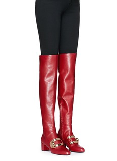 Stella Luna 'Stella XXL' turnlock buckle leather thigh high boots