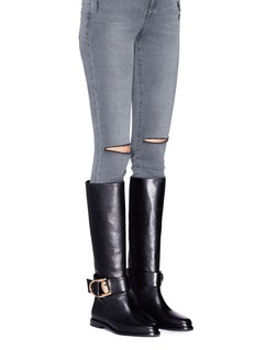 Stella Luna 'Double-Ring XXL' leather knee high riding boots