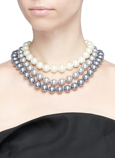 Kenneth Jay Lane Cultura pearl tiered necklace