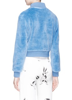 HELEN LEE Wool blend fleece bomber jacket