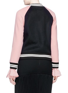 HELEN LEE Bunny embroidered wool-cashmere felt bomber jacket