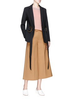 HELEN LEE O-ring belt cady crepe suiting jacket
