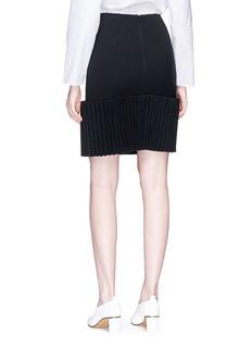 HELEN LEE Pleated panel wool skirt