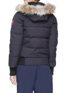 Canada Goose 'Savona' coyote fur hooded down puffer bomber jacket