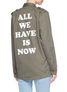 Olive and Frank 'All We Have is Now' print twill jacket