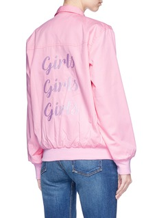 Olive and Frank 'Girls Girls Girls' embroidered twill jacket