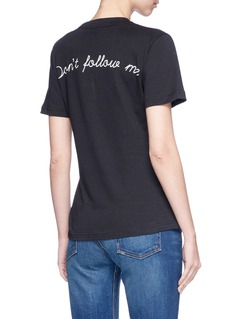 Olive and Frank 'Don't Follow Me' embroidered T-shirt
