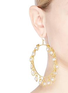 MOUNSER 'Half Shell' hoop earrings
