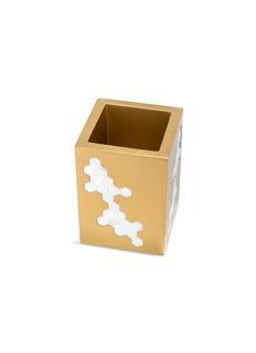 LABRAZEL Hex几何贝壳点缀牙刷筒-金色