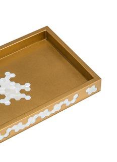LABRAZEL Hex几何贝壳点缀托盘-金色