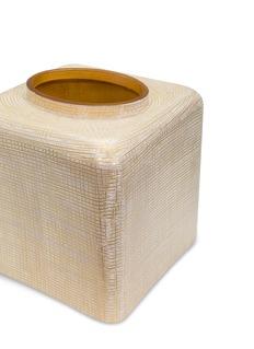 LABRAZEL Woven搪瓷编织纹理玻璃纸巾盒-金色