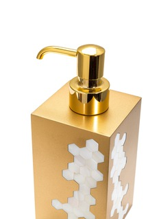 LABRAZEL Hex几何贝壳点缀皂液瓶-金色