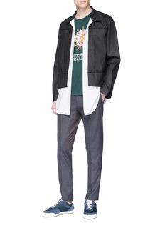 Johnundercover Contrast panel twill pants