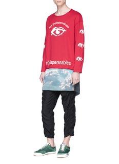 Johnundercover '(In)dispensables' eye print long sleeve T-shirt