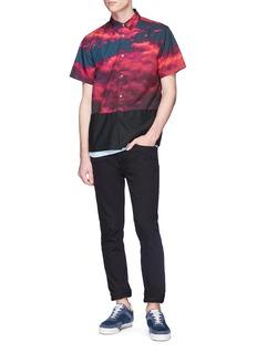 Johnundercover Sky photographic print short sleeve shirt