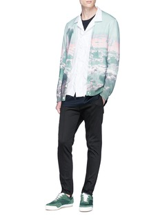 Johnundercover Sky photographic print wool cardigan