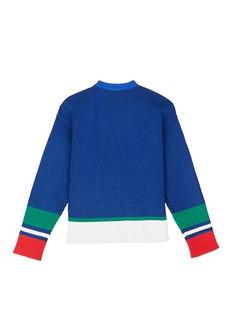 Comme Moi Colourblock rib knit kids cardigan