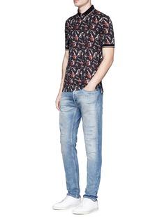 Dolce & GabbanaInstrument print cotton polo shirt