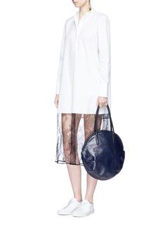 A-Esque 'Petal' colourblock leather tote