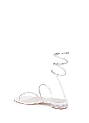 Detail View - Click To Enlarge - René Caovilla - 'Snake' strass coil anklet sandals