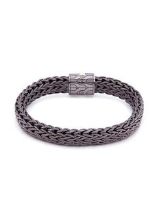 John Hardy Diamond large woven chain bracelet