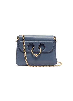 Main View - Click To Enlarge - JW Anderson - 'Pierce' barbell ring mini leather crossbody bag