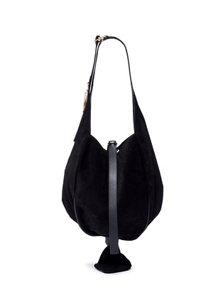 Main View - Click To Enlarge - JW Anderson - 'Knot' suede hobo bag