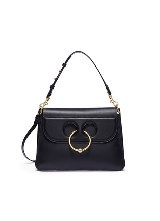 Main View - Click To Enlarge - JW Anderson - 'Pierce' barbell ring medium leather shoulder bag
