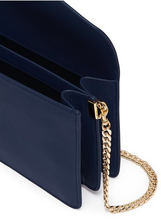 Detail View - Click To Enlarge - JW Anderson - Logo calfskin shoulder bag