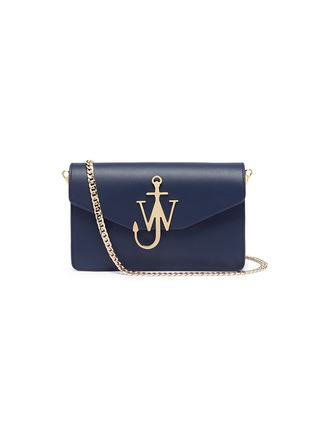 Main View - Click To Enlarge - JW Anderson - Logo calfskin shoulder bag