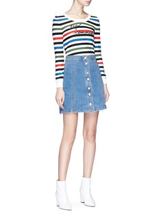 J Brand x Bella Freud 'Nashville' denim A-line skirt