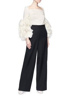 Rosie Assoulin 'Aye Yai Yai' ruffle cuff silk organza blouse