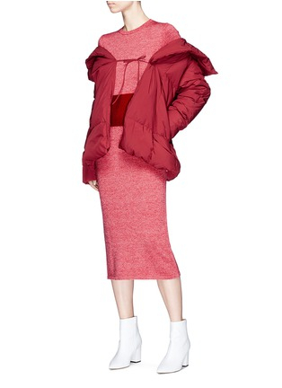 Figure View - Click To Enlarge - Fengyi Tan - Tie front down puffer jacket