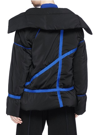 Back View - Click To Enlarge - Fengyi Tan - Ribbon tie puffer jacket