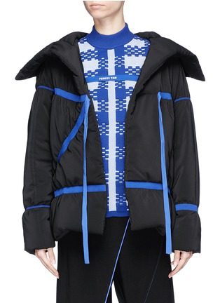 Main View - Click To Enlarge - Fengyi Tan - Ribbon tie puffer jacket