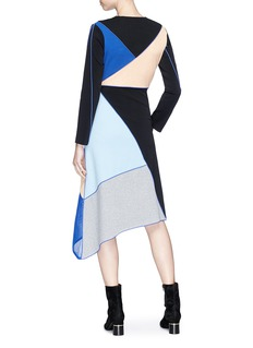 Fengyi Tan Colourblock asymmetric panel dress