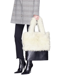 Sonia Rykiel 'Sailor' leather panel alpaca fur tote