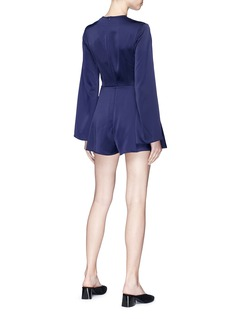 C/MEO COLLECTIVE  Influential搭叠设计深V缎面连体裤