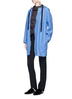 Marni Oversized wool blend zip hoodie