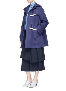 Marni Oversized virgin wool melton hooded jacket