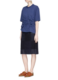 Marni Elastic shirred front T-shirt