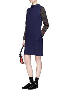 Marni Virgin wool crepe shift dress