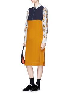 Marni Colourblock crepe shift dress