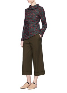 Marni Folded cuff cropped wide leg suiting pants