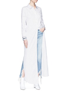Equipment 'Brett' stripe maxi shirt dress