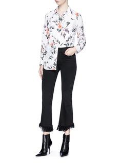 Equipment 'Slim Signature' floral print silk crepe shirt