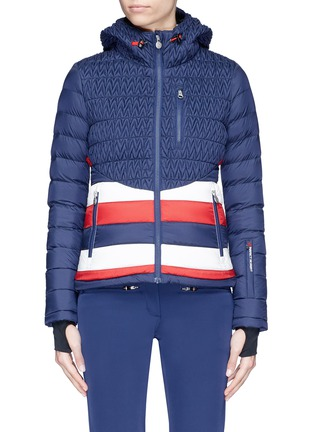 Main View - Click To Enlarge - Perfect Moment - 'Vale' colourblock stripe down puffer jacket