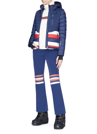 Figure View - Click To Enlarge - Perfect Moment - 'Vale' colourblock stripe down puffer jacket