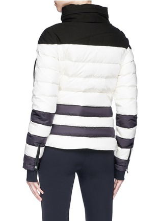 Back View - Click To Enlarge - Perfect Moment - 'Polar' colourblock hooded down puffer jacket