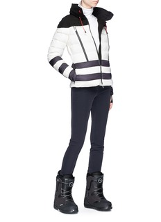 Perfect Moment 'Polar' colourblock hooded down puffer jacket
